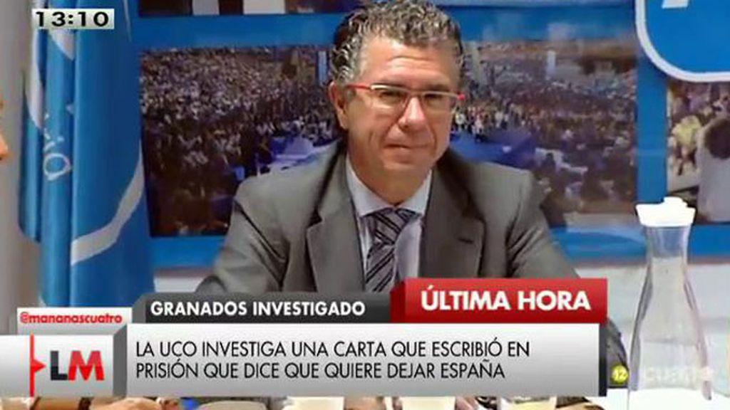 La UCO investiga una carta de Granados que dice que quiere dejar España