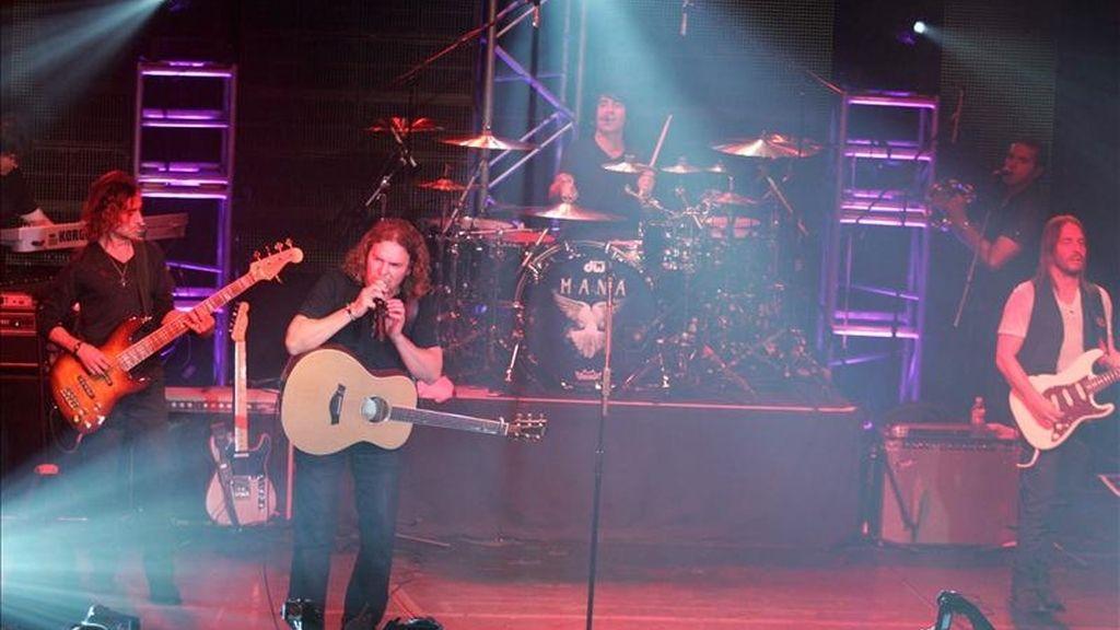 El grupo mexicano Mana se presenta este 14 de abril en el Irving Plaza de Nueva York (EE.UU.), como parte de su gira promocional. EFE
