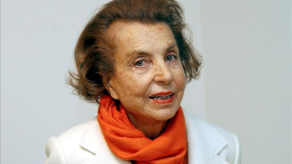 Liliane Bettencourt, la multimillonaria heredera de L'Oréal. EFE/Archivo