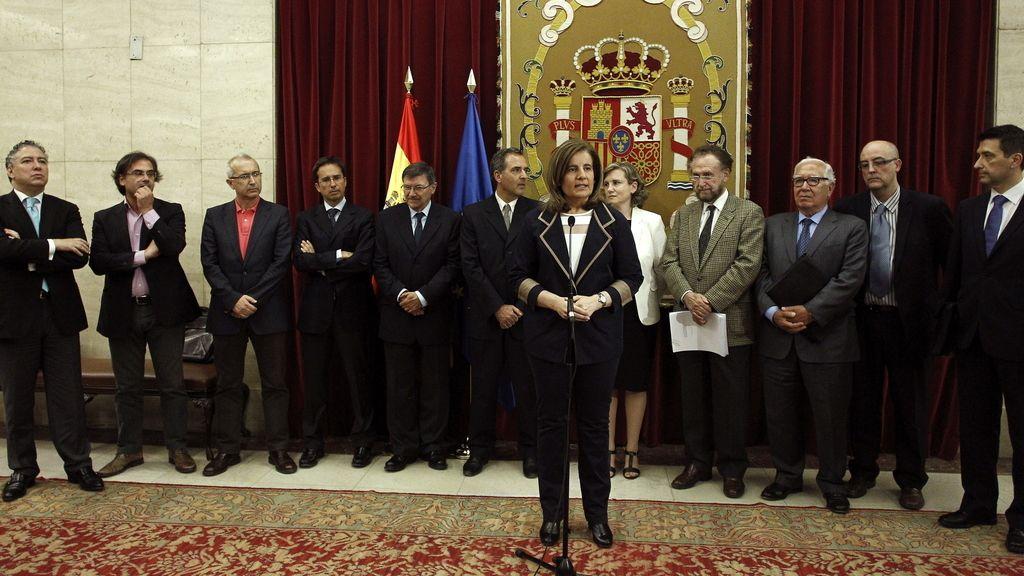 Báñez recibe el informe del comité de expertos sobre las pensiones