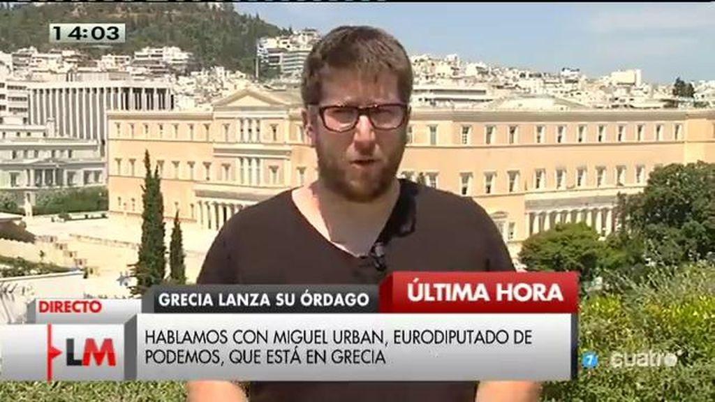 """Miguel Urban: """"Se ha hecho una auditoría de la deuda griega y se ha dicho que el 75% es insostenible, ilegal e insoportable"""""""