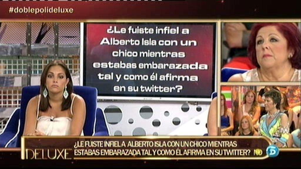 Según el polígrafo, Estefanía no le fue infiel a Alberto mientras ella estaba embarazada