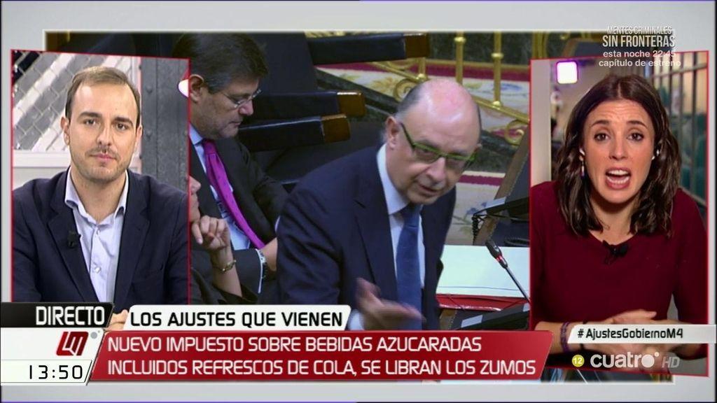"""Irene Montero: """"Todo el mundo tiene muy claro que el PP gobierna para los corruptos"""""""