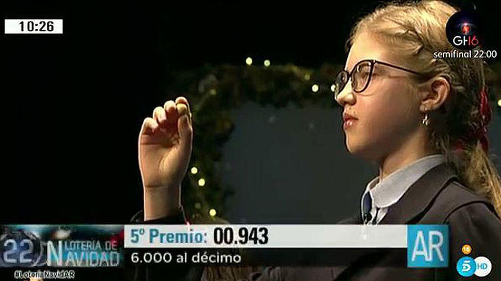 00.943: Quinto premio de la Lotería