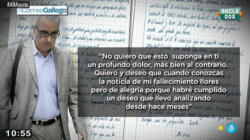 Alfonso Basterra insinua a Rosario Porto en una carta que se va a suicidar