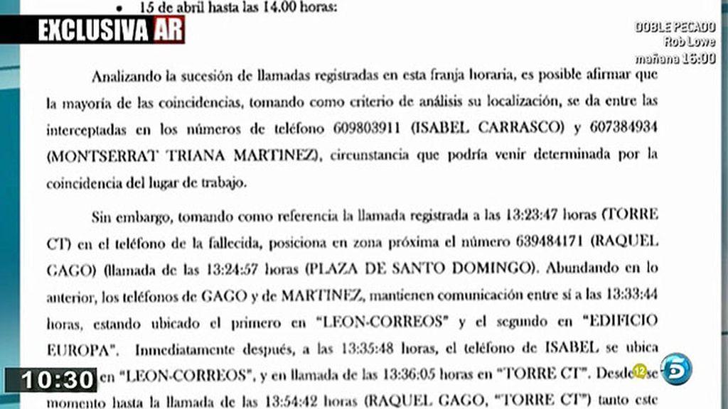 La declaración de Raquel Gago ante el juez, en exclusiva en 'El programa de Ana Rosa'