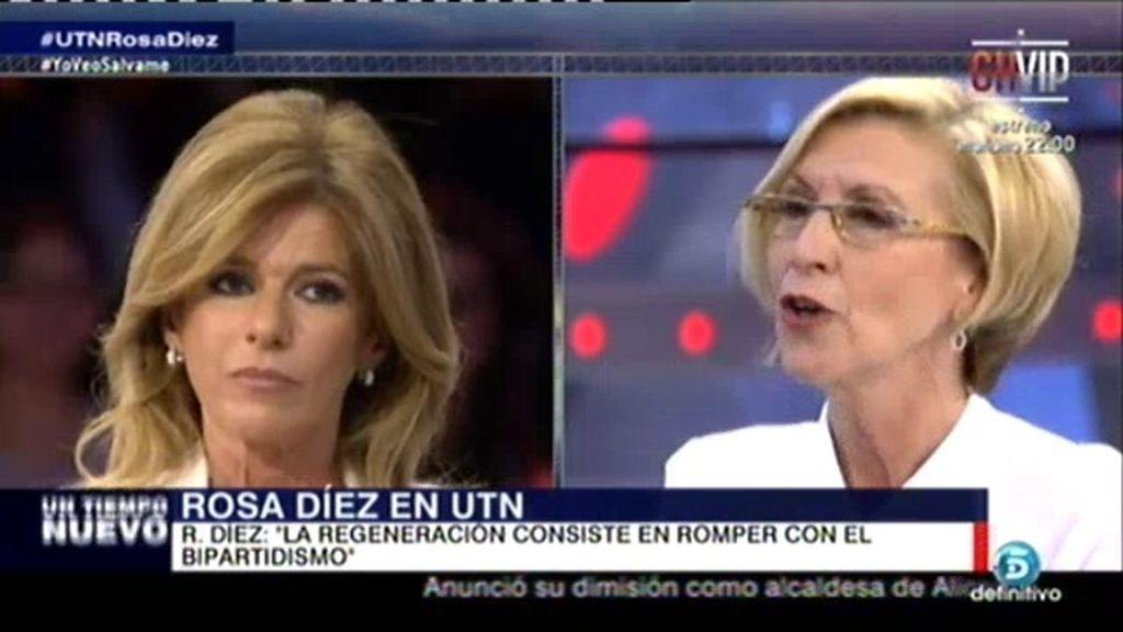 """Rosa Díez: """"Nosotros hemos contribuido para acabar con el bipartidismo"""""""