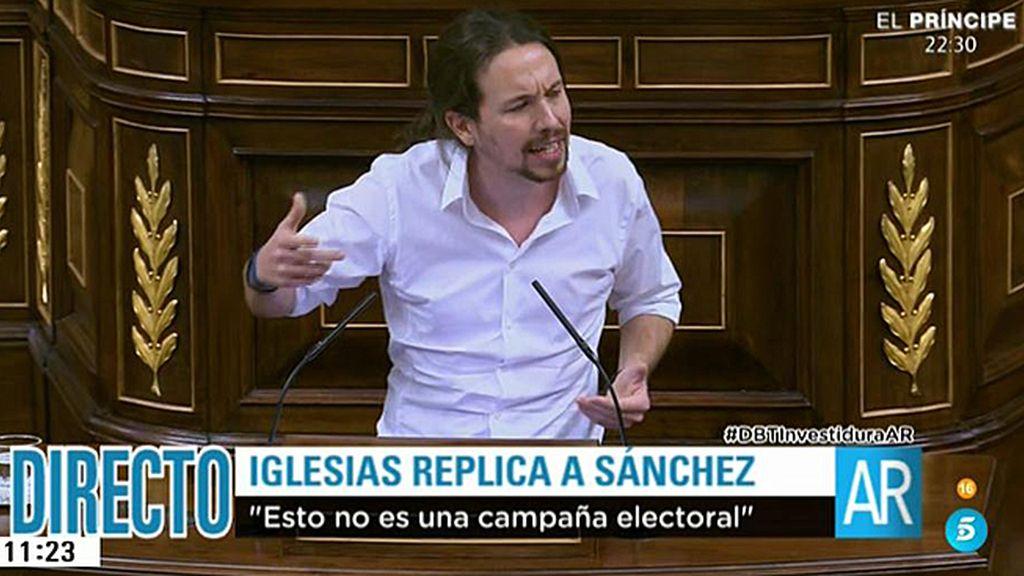 Pablo Iglesias 'se viene arriba' contra el PSOE