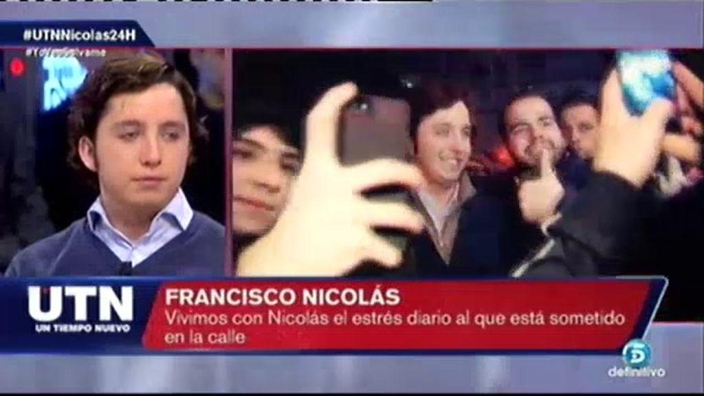 """F. Nicolás, tras ir al Bernabéu: """"No puedo tener una vida normal"""""""