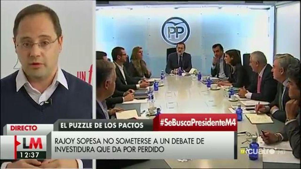 """César Luena: """"Rajoy lleva toda la legislatura escurriendo el bulto"""""""