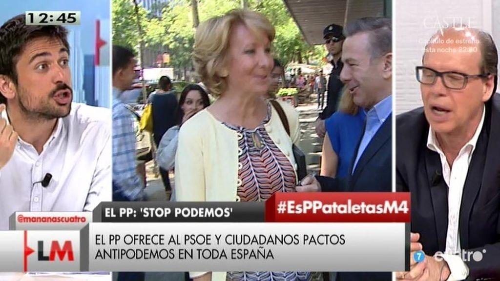 """Ramón Espinar: """"A Aguirre le pega la música del NO-DO de fondo"""""""