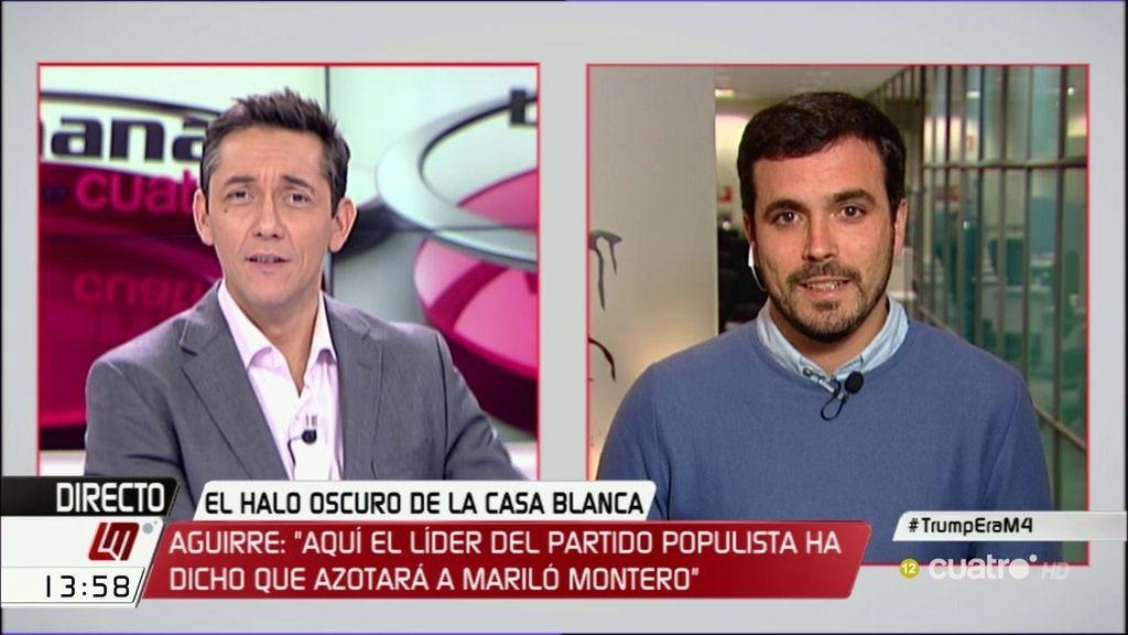 """Alberto Garzón: """"Esperanza Aguirre es la caricatura de ella misma"""""""