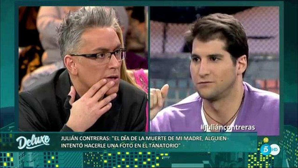 """Julián Contreras: """"Alguien intentó hacerle una foto a mi madre en el tanatorio"""""""