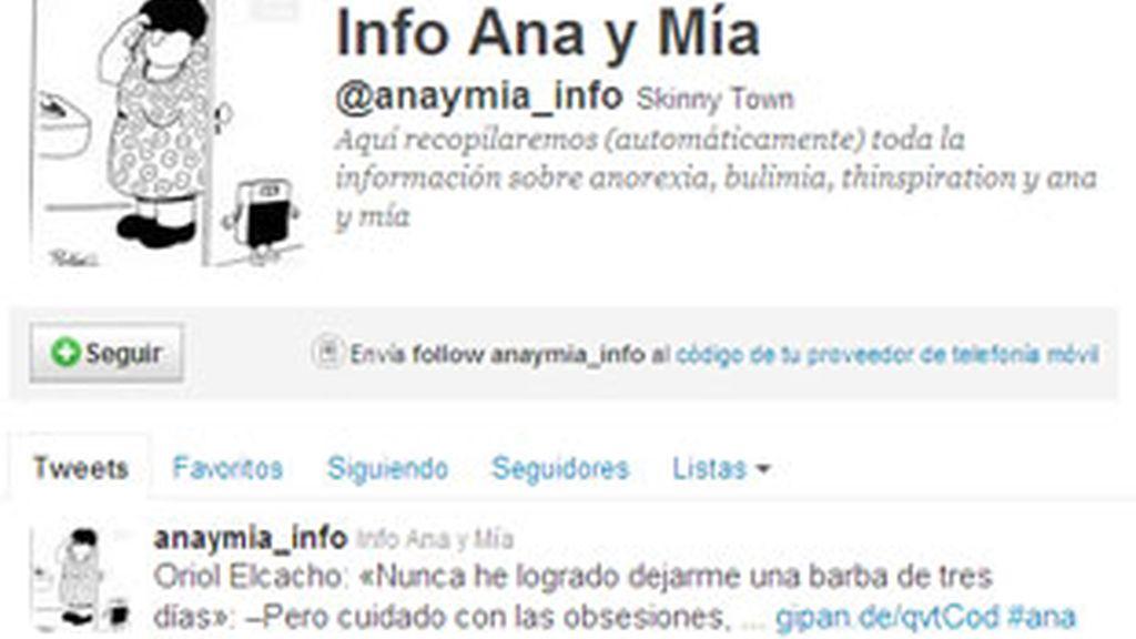 Ana y Mia: los peligrosos perfiles que promueven la anorexia en Twitter.
