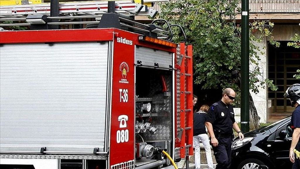 Un coche de bomberos en un suceso. EFE/Archivo