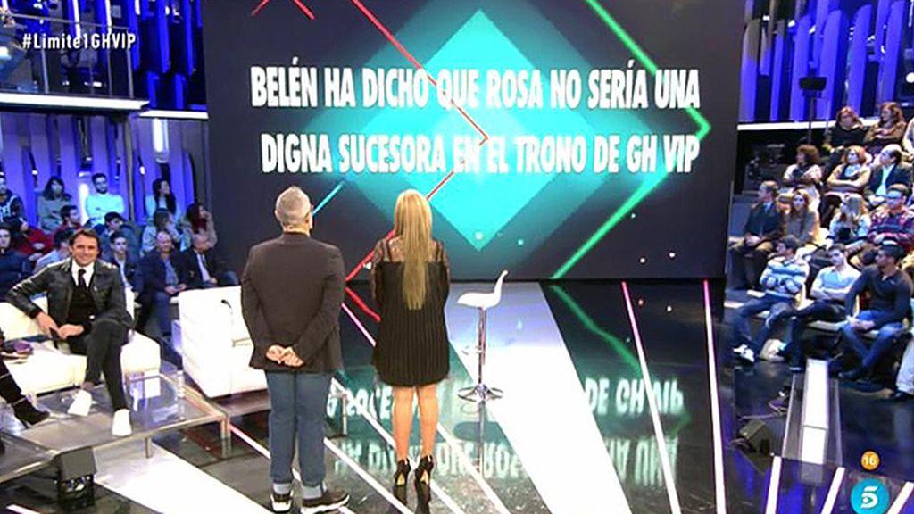 La audiencia cree que Belén no cree que Rosa sea digna del trono de 'GH VIP'