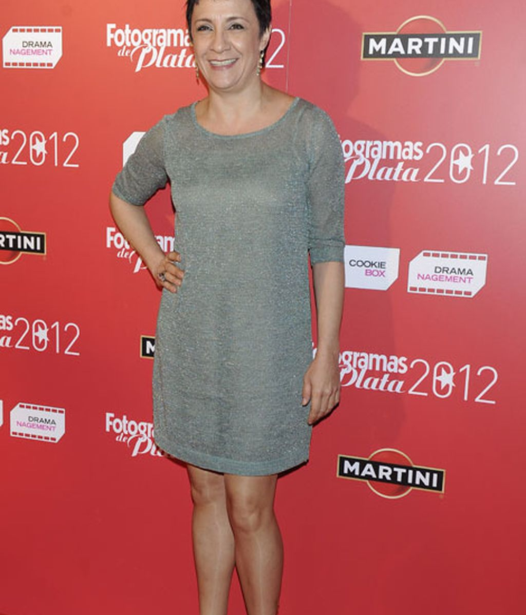 Blanca Portillo, con un vestido gris vaporoso