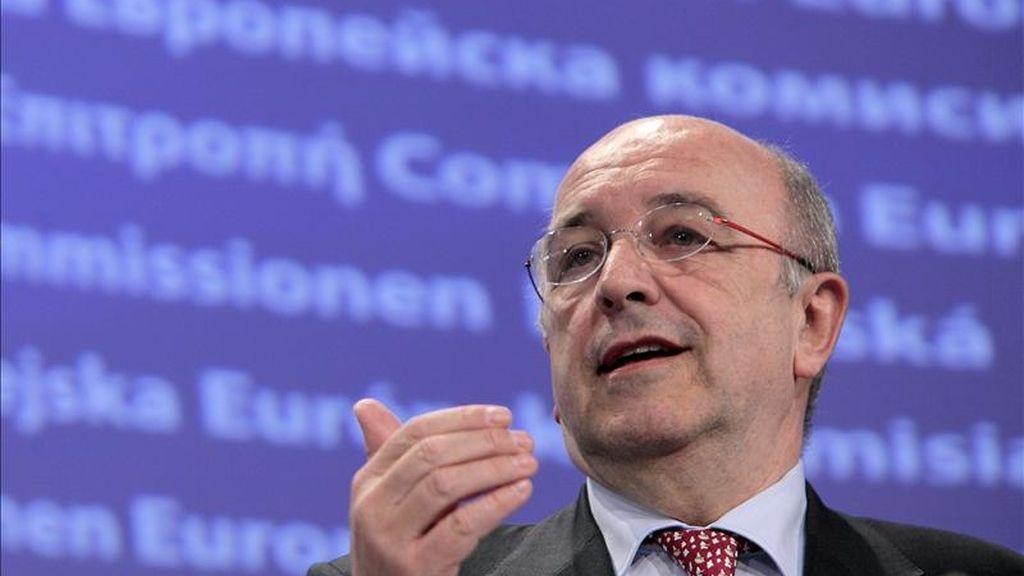 El vicepresidente de la Comisión Europea (CE) y comisario de Competencia, el español Joaquín Almunia. EFE/Archivo