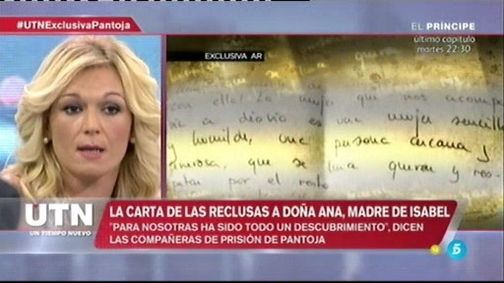 ¿Qué opina Raquel Martínez sobre la carta que recibió la madre de I. Pantoja?