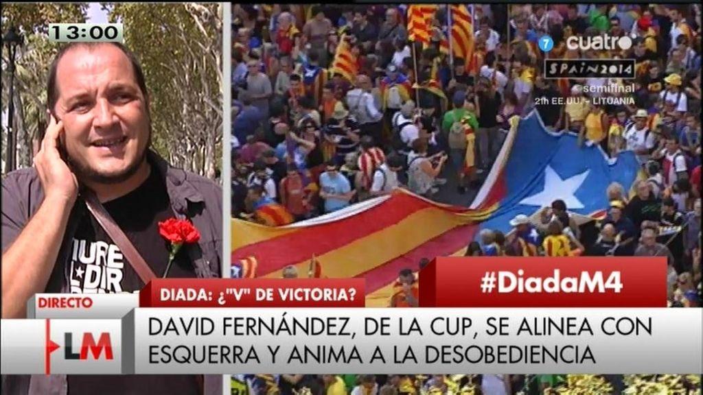 """David Fernández: """"Sin referéndum, haremos un llamamiento a la desobediencia civil"""""""