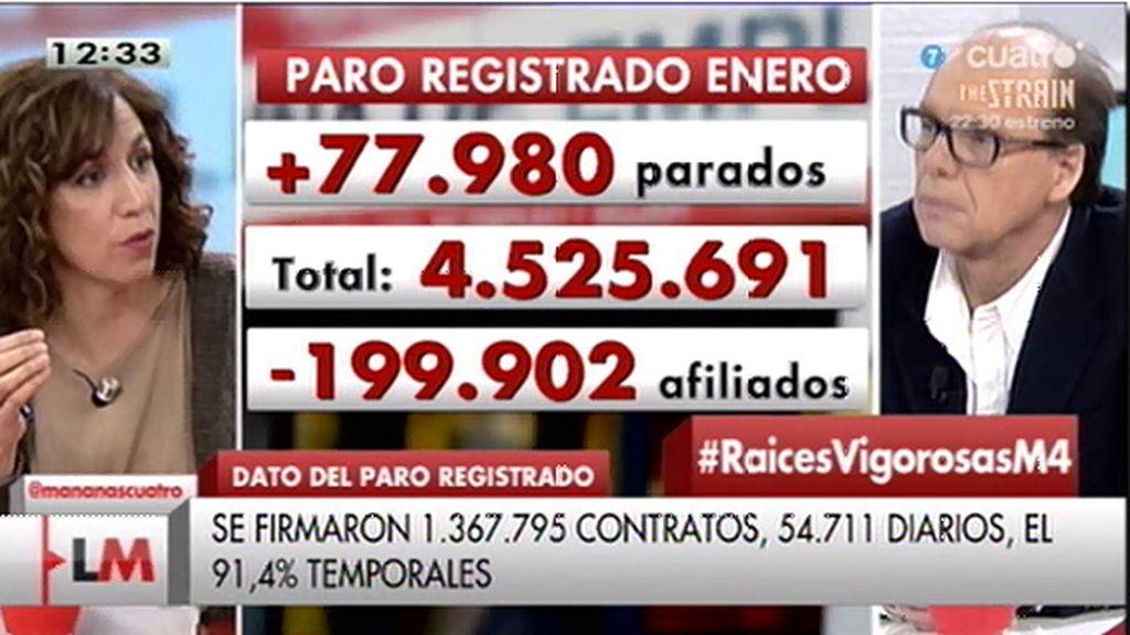 """I. Lozano: """"Por mucho triunfalismo que haga Rajoy, estamos peor que en 2011"""""""