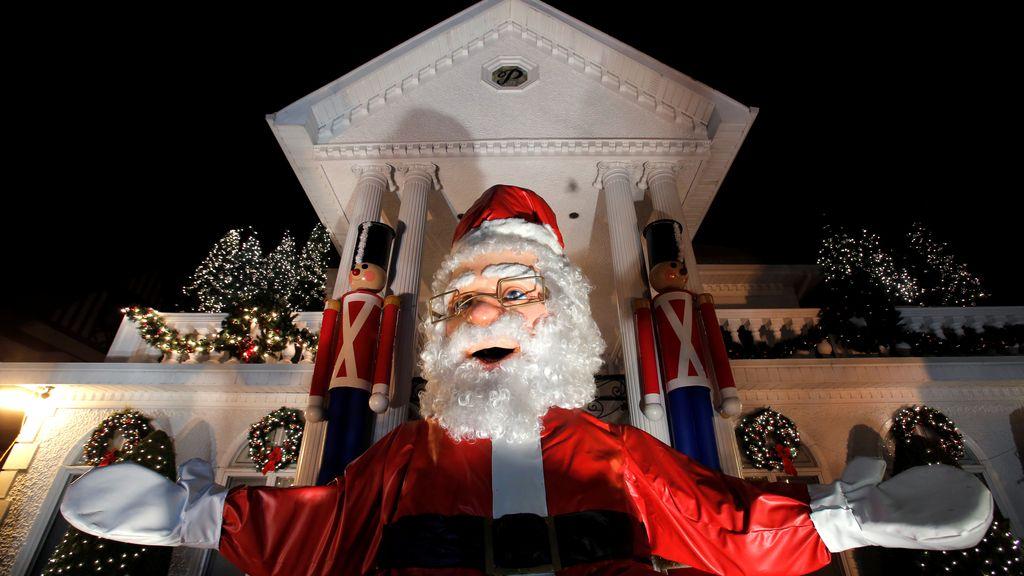 Espectacular decoración navideña en una casa de Nueva York