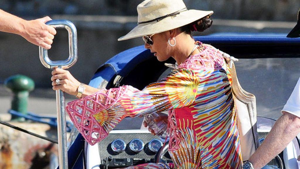 La actriz Catherine Zeta Jones durante sus vacaciones en San Tropez