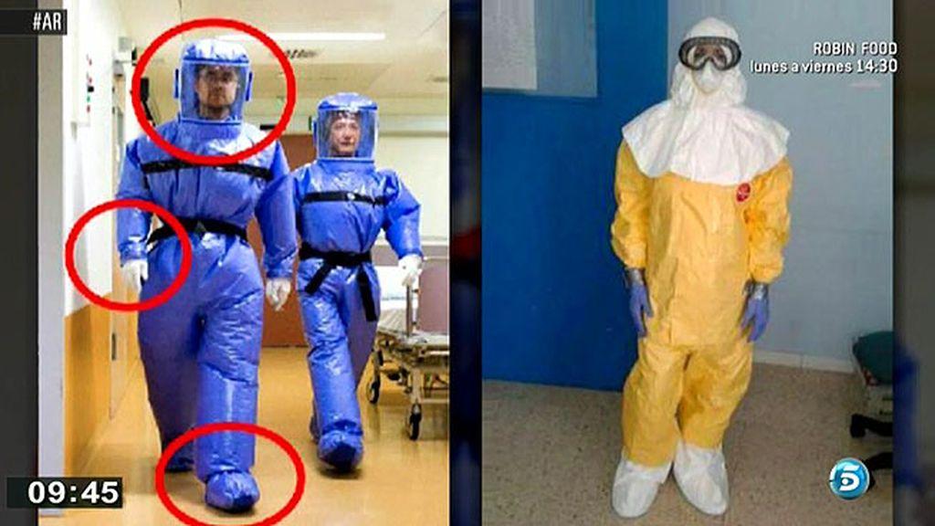 Los sanitarios madrileños se quejan de que el traje utilizado no era el adecuado