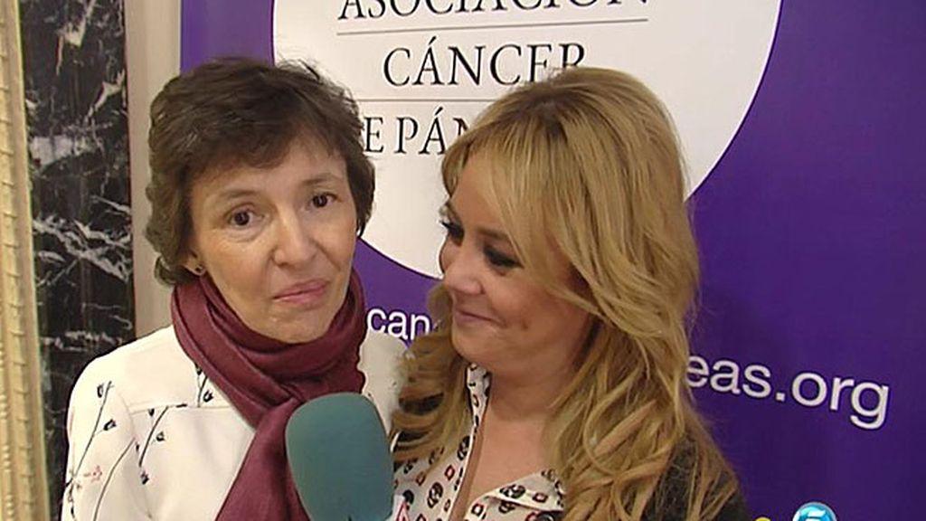 Nuestra compañera Carmen Delgado presenta la primera asociación de cáncer de páncreas en España