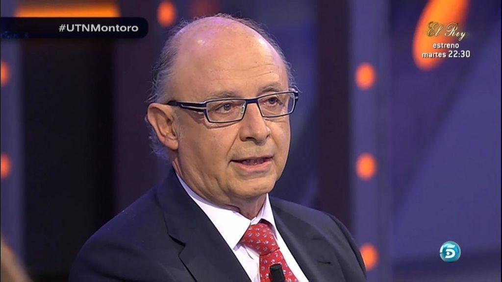 """Cristóbal Montoro, sobre Rodrigo Rato: """"Hay conductas que no son admisibles"""""""