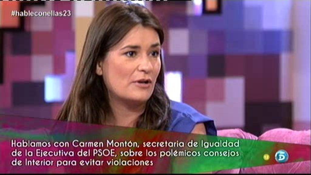 """Carmen Montón: """"Los consejos de Interior para evitar violaciones son dañinos"""""""