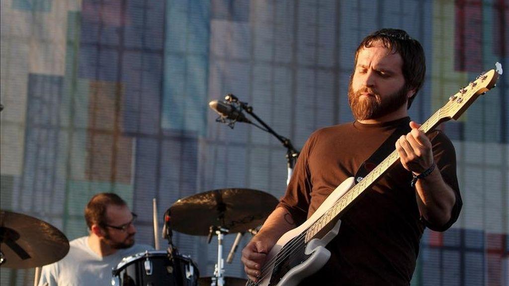 Nick Harmer de la banda estadounidense Death Cab For Cutie en el Festival de Música y artes de Coachella, en Indio (EEUU). EFE/Archivo