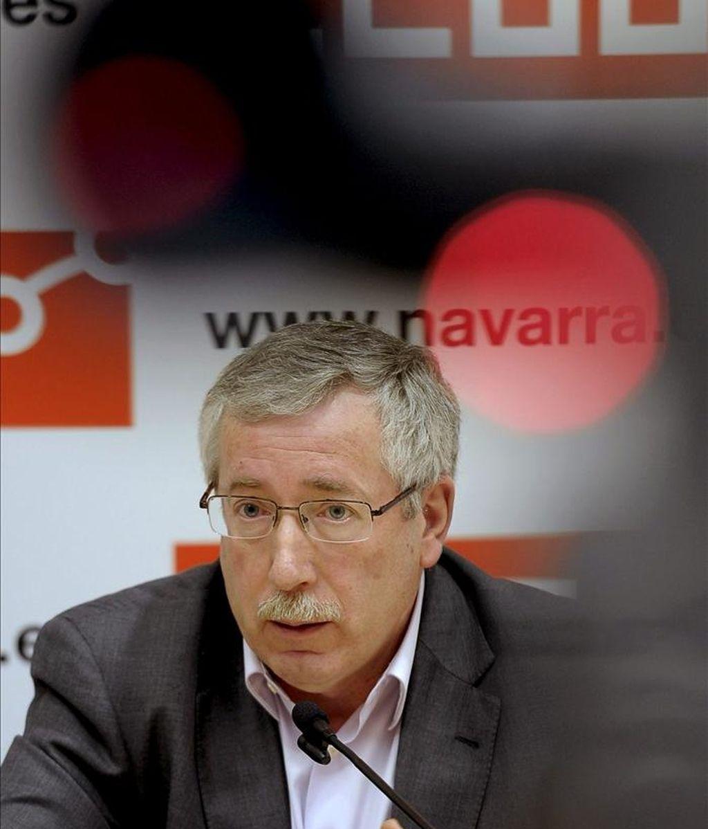 El secretario general de CCOO, Ignacio Fernández Toxo. EFE/Archivo