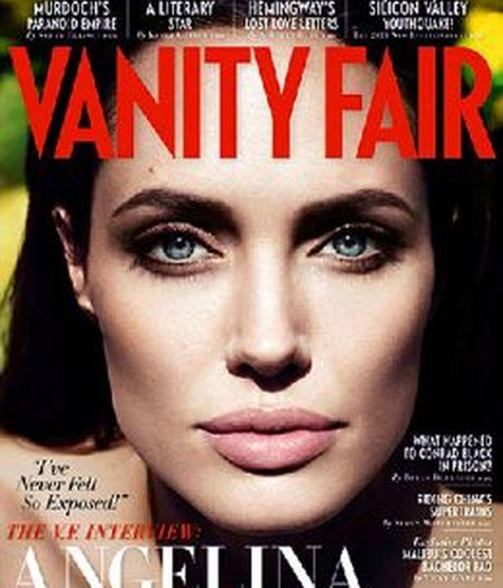 Angelina Jolie desmiente rumores en una entrevista para el número de octubre de Vanity Fair. Foto: Vanity Fair.