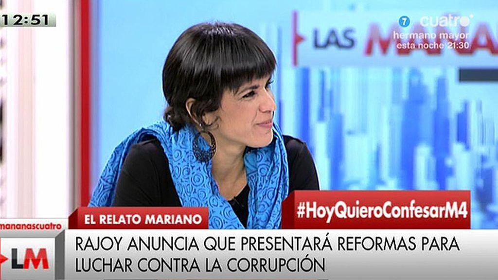 """Teresa Rodríguez (Podemos): """"La carta de Rajoy demuestra el autismo que ha sido marca de la casa del gobierno del PP"""""""