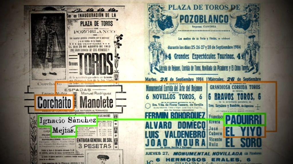 El cartel de inauguración de la plaza de toros de Pozoblanco también fue maldito