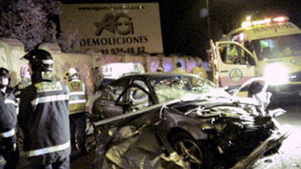 Uno de los accidentes ocurridos este fin de semana. Foto: EFE