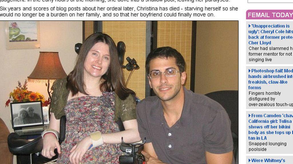 Christina Symanski con su novio