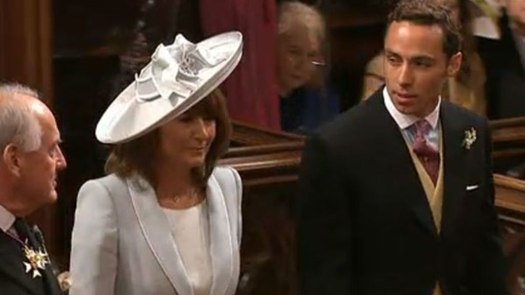 Carole y James Middleton, madre y hermano de la novia