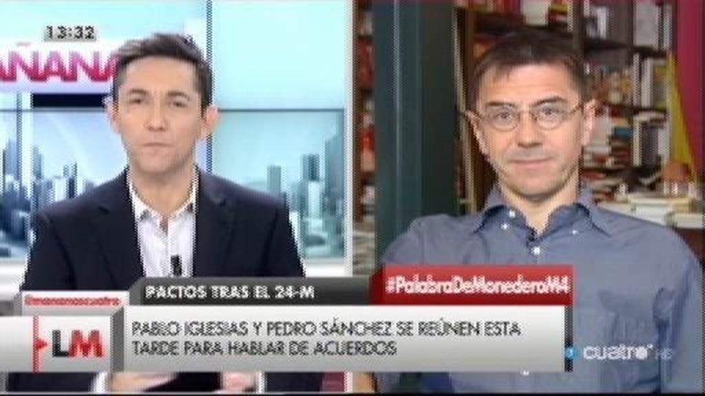 """Monedero: """"Se ponga como se ponga el PSOE, Podemos no entrará en su Gobierno"""""""