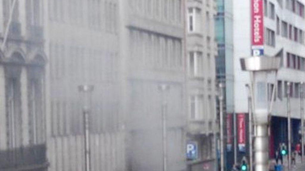 Registrada una explosión en el metro de Maelbeek, en el centro de Bruselas
