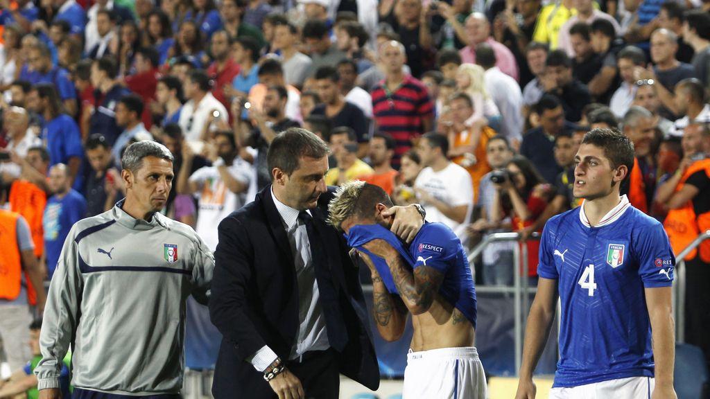 Italia-España, las imágenes de la final