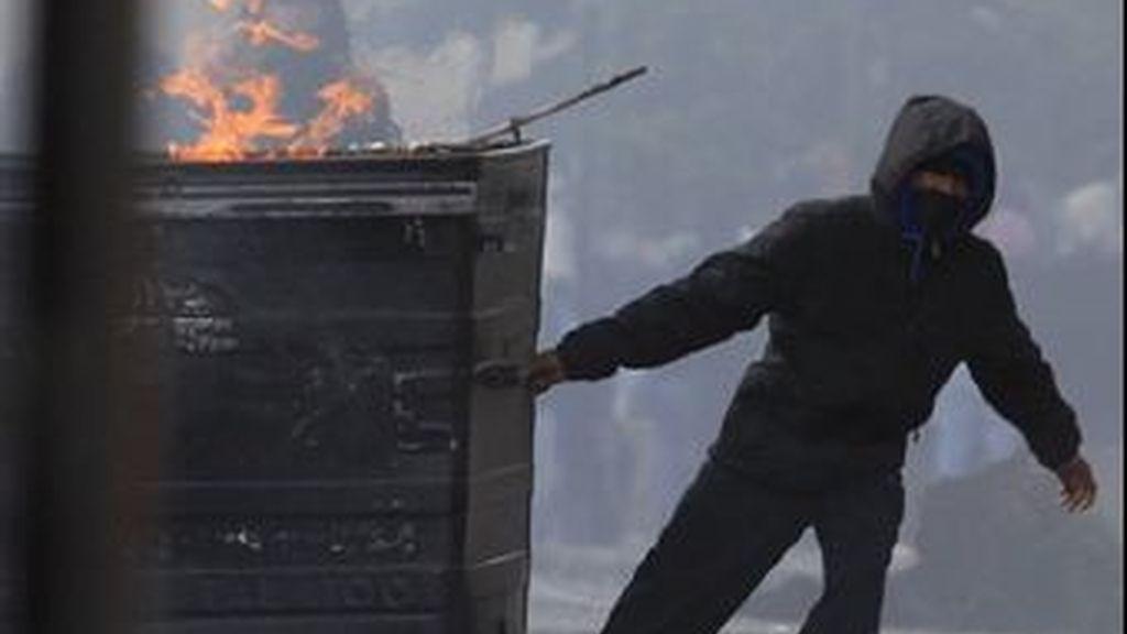 Foto de los disturbios que sacudieron Londres y otras ciudades británicas hace apenas dos semanas. Imagen AP