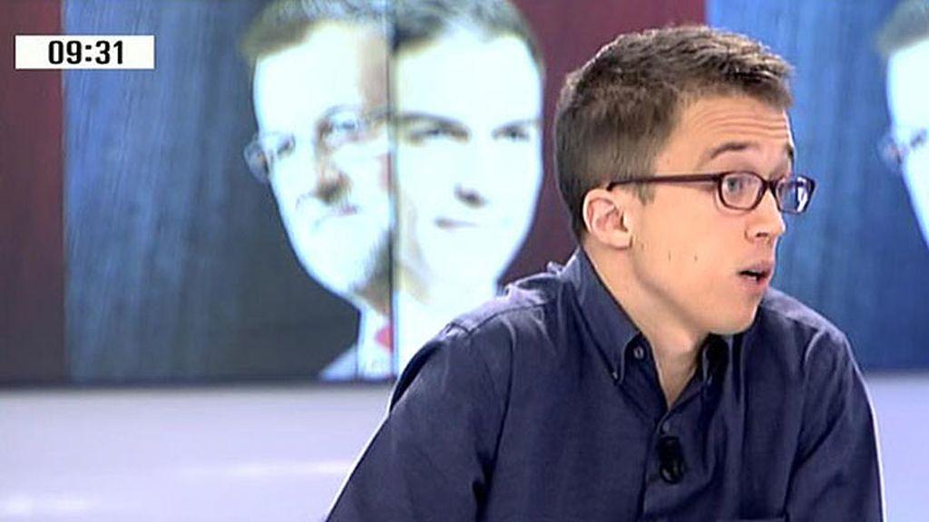 """Íñigo Errejón: """"Puede haber actores en la campaña que solo quieran hablar de Cataluña para evitar otras discusiones"""""""