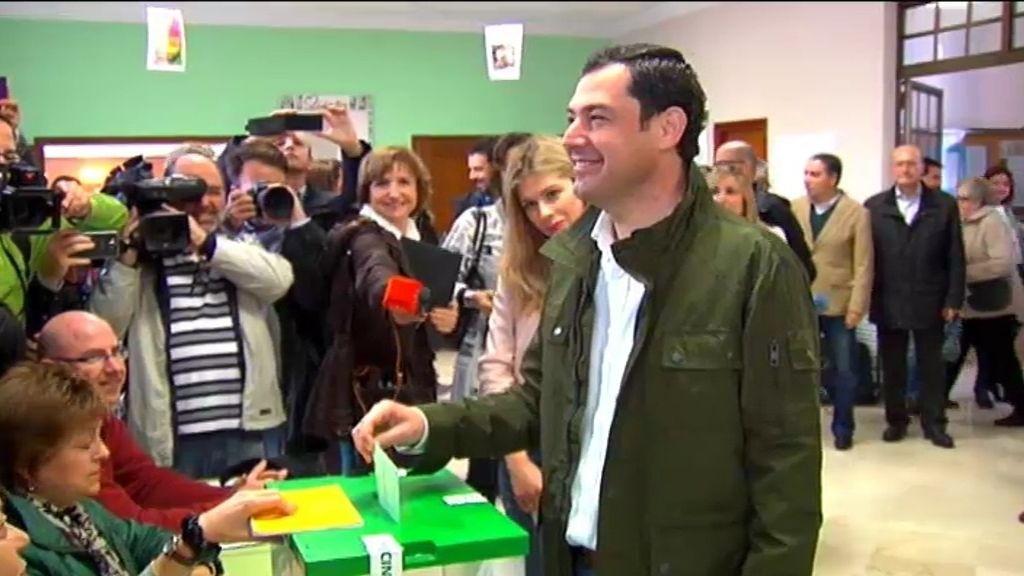 El voto de Juan Manuel Moreno, del Partido Popular
