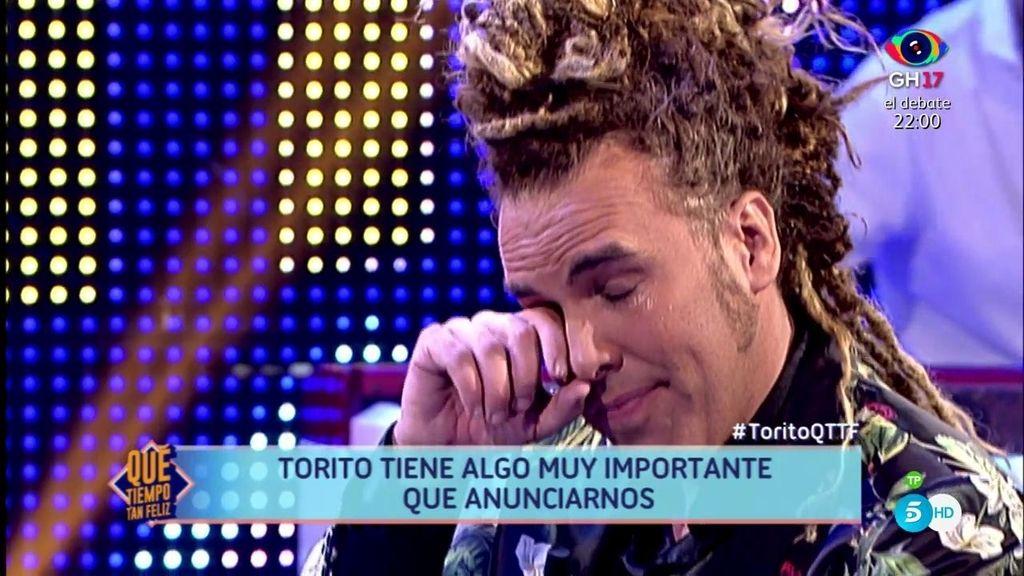 Torito anuncia que va a ser padre y se despide de María Teresa