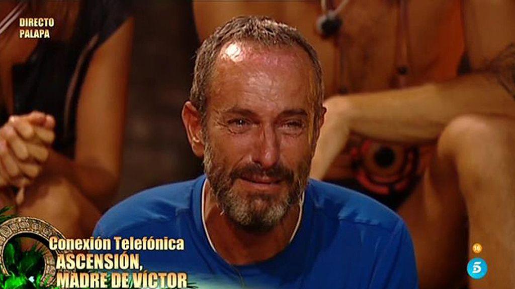 """Ascensión, madre de Víctor: """"Lo estás haciendo muy bien, te quiero mucho hijo"""""""