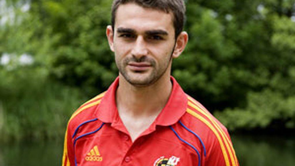 Adrián López, delantero de La Rojita. Foto: EFE