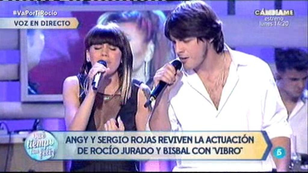 Angy y Sergio Rojas versionan el éxito 'Vibro', de Rocío Jurado, en ¡QTTF!