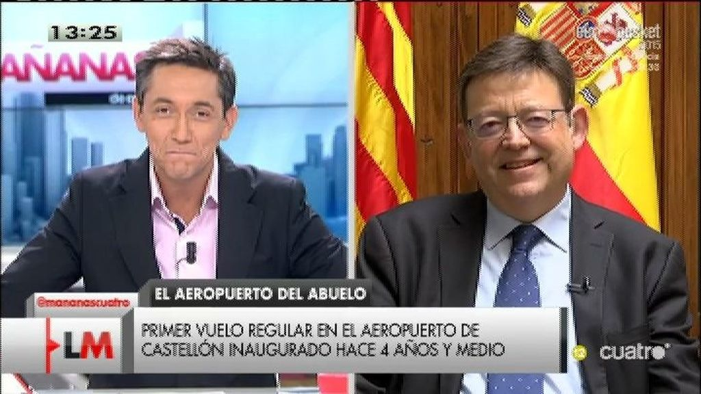 """Ximo Puig: """"No podemos continuar drenando dinero público en el aeropuerto de Castellón  """""""